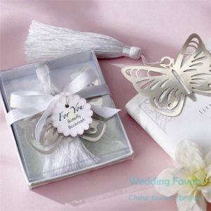 heart shape butterfly bookmark favors