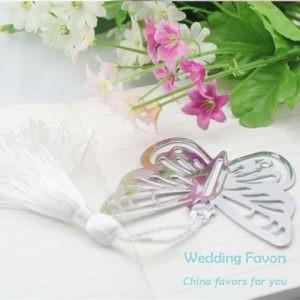 heart shape butterfly bookmark favors61