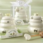 "Ceramic Honey Pot Wedding Favors – ""Meant to Bee"""