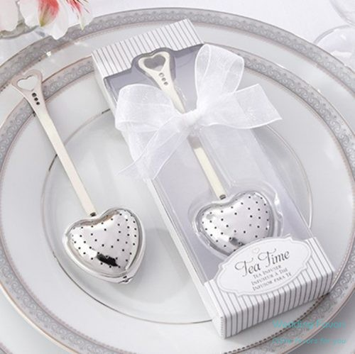 Heart Shaped Tea Infuser Wedding Favors