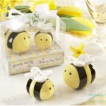 Mommy and Me Sweet as Can Bee Ceramic Bumblebee Salt and pepper shaker