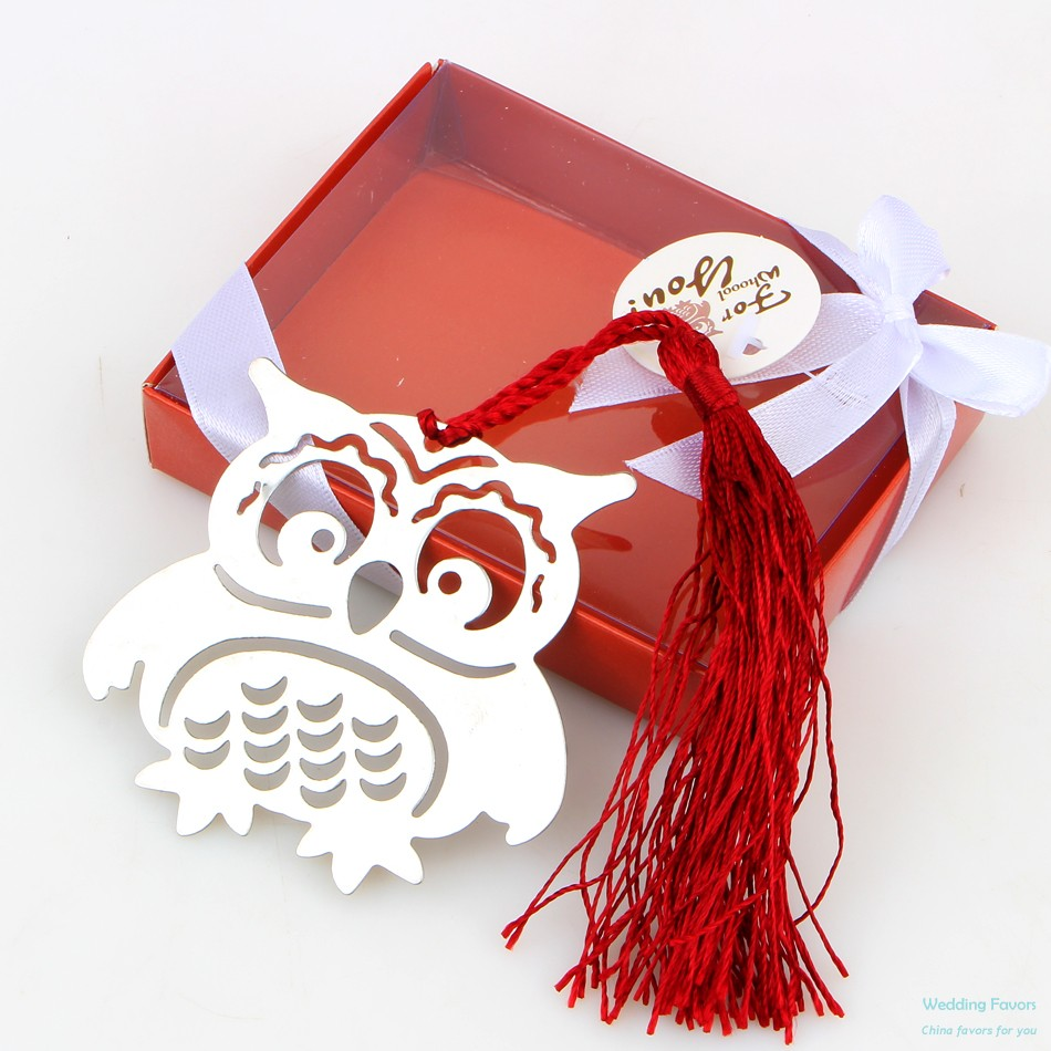 Hollow Design Cute Baby Owl Bookmark Favors China Wedding Favors
