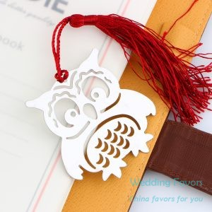 Hollow Design Cute Baby Owl Bookmark Favors681
