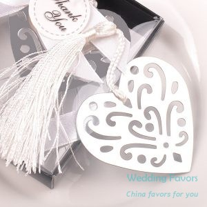 Hollow Design Silver Heart Shaped Bookmark184