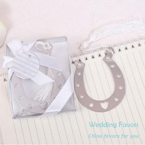 Lucky in Love Horseshoe Bookmark Favors66