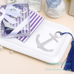 Metal anchor bookmark with tassel101