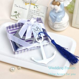 Metal anchor bookmark with tassel152