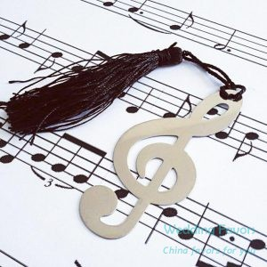 Metal Timeless Duet Bookmark with Tassel81