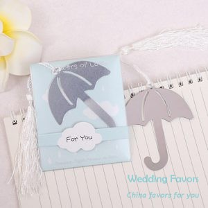Metal Umbrella Bookmark Favors262