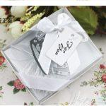 Rostfritt stål Crown bokmärke med Flower Tassels120