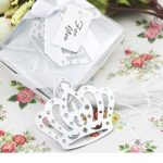Stainless Steel Crown Bookmark with Flower Tassels95