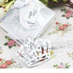 Rostfritt stål Crown bokmärke med Flower Tassels95