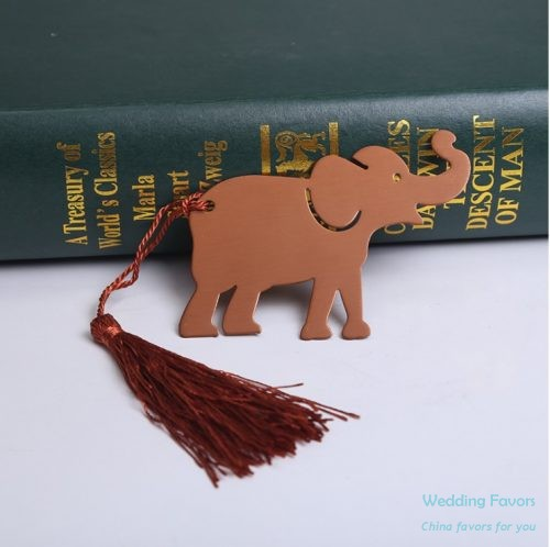 Stainless Steel Lucky Elephant Bookmark110