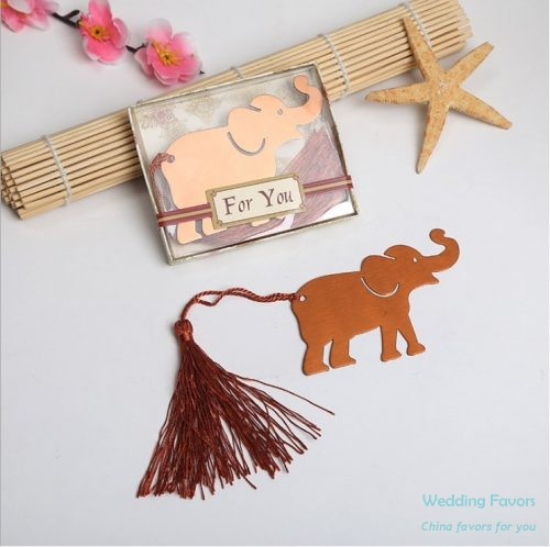 Stainless Steel Lucky Elephant Bookmark130