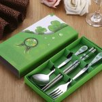 Chinese Style Dinnerware Chopstick Spoon Fork Set