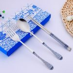 Chinese Style Dinnerware Chopstick Spoon Fork Set115163
