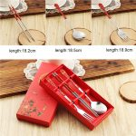 Chinese Style Dinnerware Chopstick Spoon Fork Set270916
