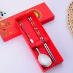 Chinese Style Dinnerware Chopstick Spoon Fork Set91290
