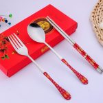 Chinese Style Dinnerware Chopstick Spoon Fork Set97477