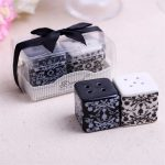 Damask Ceramic Salt and Pepper Shakers116125