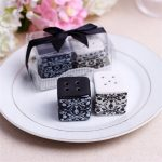Damask Ceramic Salt and Pepper Shakers120682
