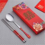 Double Happiness Chinese Style Chopsticks Spoon Set118621