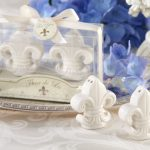 Fleur-de-Lis Ceramic Salt Pepper Shakers97967