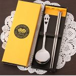 Smiley Face Dinnerware Stainless Steel chopsticks Spoon140348