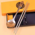 Smiley Face Dinnerware Stainless Steel chopsticks Spoon95672