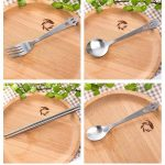 Stainless Steel Smiling Face Tableware Fork Scoop Set223791