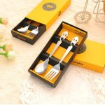 Stainless Steel Smiling Face Tableware Fork Scoop Set52576