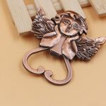 Heart Shaped Cherub Copper Bottle Opener